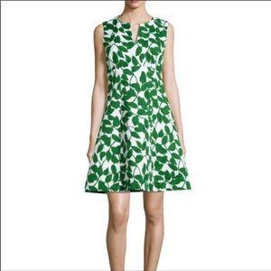 """Kate Spade """"Garden Leaves"""" Sleeveless Dress Size 4"""